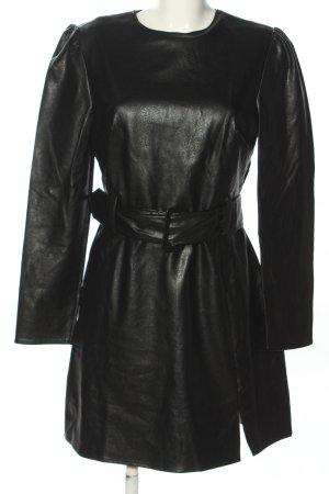 Fashion Union Kunstlederkleid schwarz Casual-Look