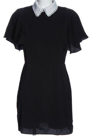 Fashion Union Kurzarmkleid schwarz-weiß Casual-Look