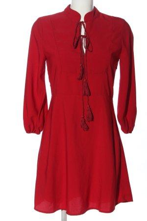 Fashion Union Langarmkleid rot Casual-Look