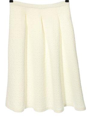 Fashion Union Plisowana spódnica kremowy Abstrakcyjny wzór W stylu casual