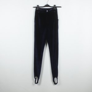 Fashion Union Strapped Trousers dark blue polyester