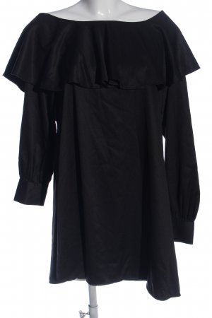 Fashion Union Volantkleid schwarz Casual-Look