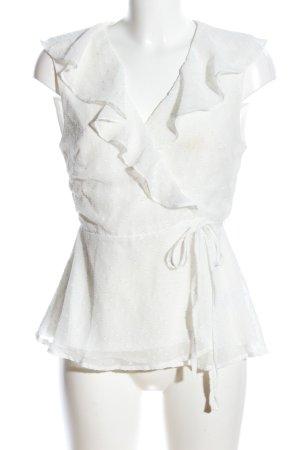 Fashion Union Wraparound Blouse cream elegant