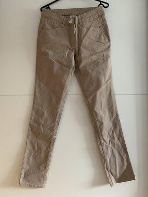 pantalón de cintura baja beige