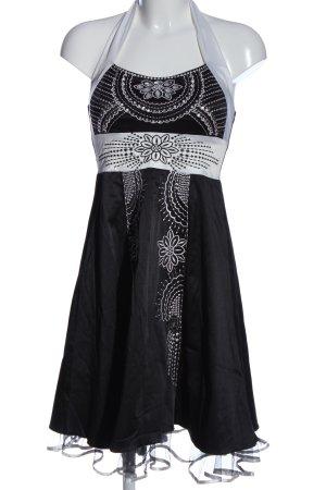 Fashion Wave Robe dos-nu noir-blanc élégant