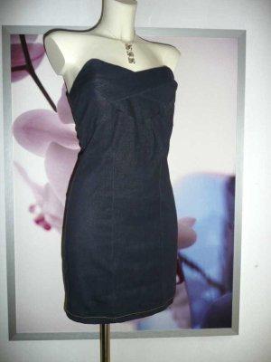 Fashion Wave sexy Bustier Mini Kleid stretchig dunkel blau 36-38 NEU
