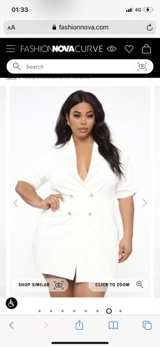 Fashionnova Empire Dress white-gold-colored