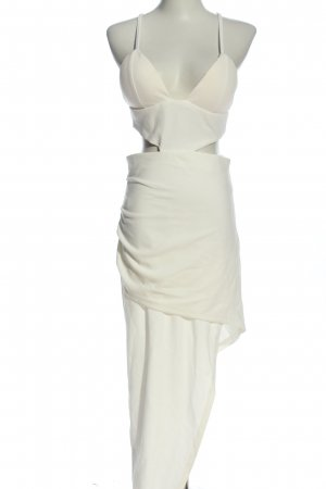 Fashionnova Vestido cut out blanco elegante