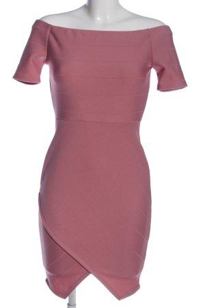 Fashionnova Kurzarmkleid pink Casual-Look