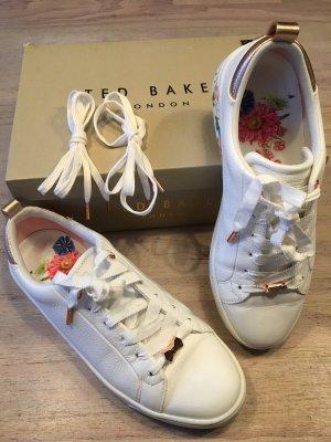 Fast NEU Sneaker TED BAKER Gr. 38 weiß Blumen