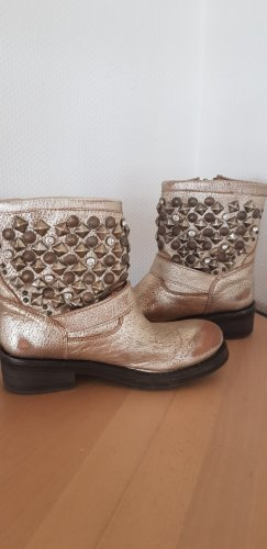 ASH Booties gold-colored