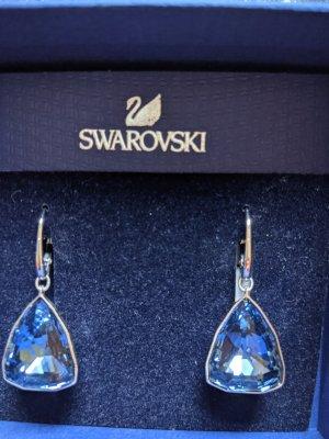 Swarovski Pendant d'oreille bleu acier-bleu