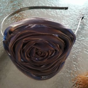 Solena Serre-tête bleu acier-brun sable polyester