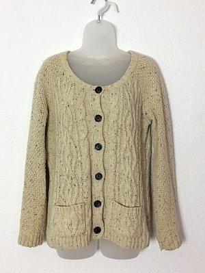 FatFace UK Cardigan Strickjacke Grandma Sweater Grobstrick Gr. 12 / M