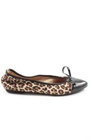 Fausta moretti Bailarinas plegables estampado de leopardo estilo «business»