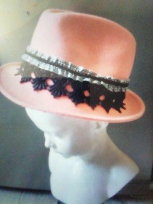 Faustmann Folkloristische hoed zwart-roze