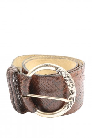 Fausto colato Leather Belt brown animal pattern casual look