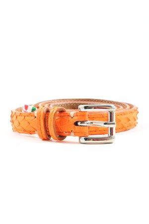 Fausto colato Cinturón de cuero naranja claro look casual