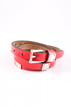 Fausto colato Leather Belt red casual look