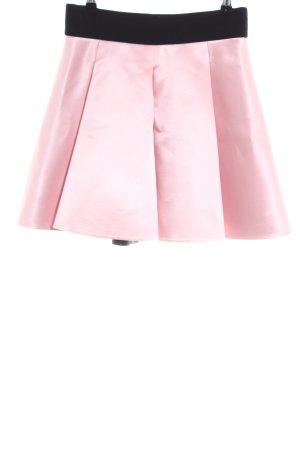 Falda acampanada rosa-negro elegante