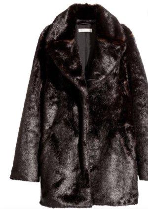 H&M Futrzana kurtka Wielokolorowy Skóra