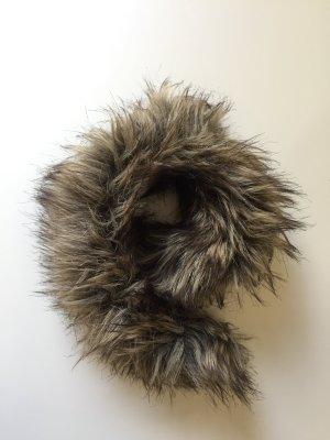 Esprit Futrzana czapka Wielokolorowy Tkanina z mieszanych włókien