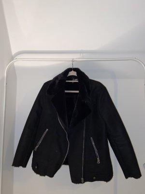 H&M Kurtka zimowa czarny-srebrny
