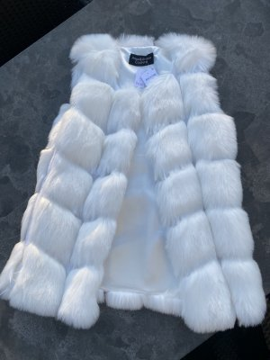 Amor&Grace Fake Fur Vest white