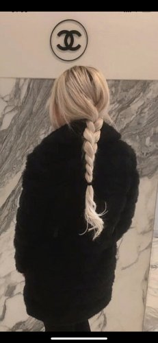Giacca di pelliccia nero