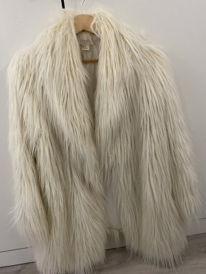 H&M Fake Fur Jacket natural white
