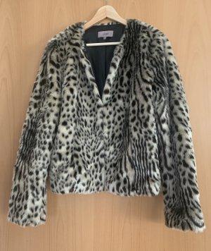 Faux Fur Jacke animal print