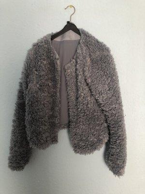 Faux Fur Jacke aus Teddystoff