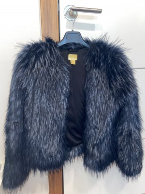 H&M Pelt Jacket black-dark blue