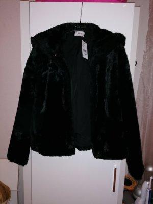 Pimkie Fake Fur Jacket black fake fur