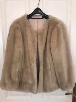 Faux Fur Jacke in Größe L