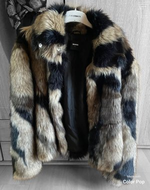 Bik Bok Giacca in eco pelliccia multicolore Pelliccia ecologica