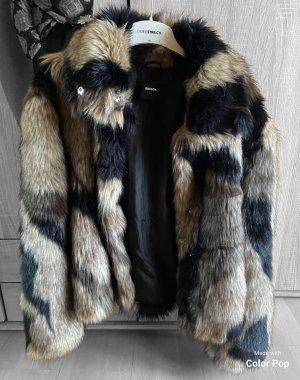 Bik Bok Fake Fur Jacket multicolored fake fur