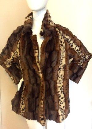 Veste mi-saison bronze-brun noir coton