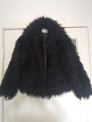 Nakd Giacca in eco pelliccia nero