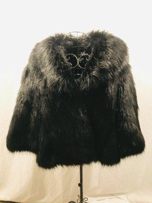 Planet Fake Fur Jacket black
