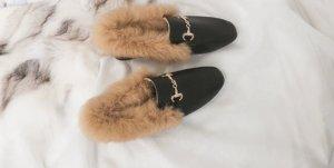 Faux Fur Leather Slipper