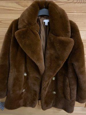 Faux Fur Mantel