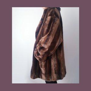 Faux Fur Mantel Jacke Gr. XL True Vintage