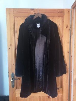 I am Cappotto in eco pelliccia nero