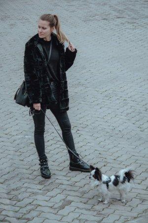 Rut & Circle Pelt Coat black