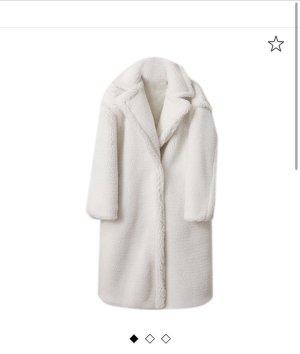 Veste en fausse fourrure blanc