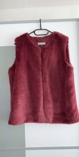 Amaryllis Fake Fur Vest dark red-carmine
