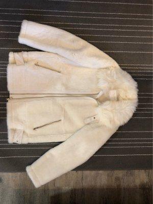 Zara Woman Giacca in eco pelliccia bianco-bianco sporco
