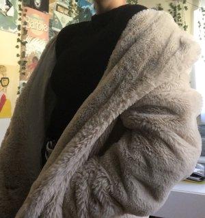 B.young Cappotto in eco pelliccia crema-beige