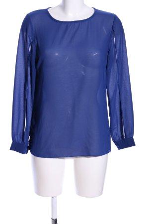 favolook Langarm-Bluse blau Casual-Look